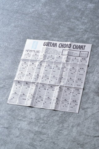 Nine music CL203 GRY(グレー) -Microfiber Guitar Clothes/Guitar Chord Chart- 《マイクロファイバークロス》 【ONLINE STORE】