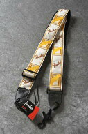 """Fender2""""MonogrammedStraps(White/Brown/Yellow)《ストラップ》"""