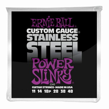 ERNIE BALL Power Slinky Stainless Steel Wound 11-48 Gauge 【2245】【WEB特価】【ネコポス】【G-CLUB渋谷】