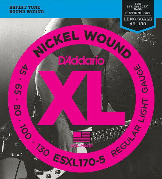 ベース用アクセサリー・パーツ, 弦 WEBDAddario ESXL170-5 Double BallLightG-CLUB