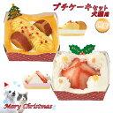 在庫一掃 訳あり アウトレットセール   2020 クリスマスケーキ 犬猫用 プチケーキセット ■ X'masパーティー おやつ ドッグ キャット フード ペット【冷凍便】【同梱不可】
