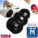 犬用知育玩具 コングジャパン 中型犬 成犬用 ブラックコング M ■ しつけトレーニング おもちゃ 天然ゴム おやつ KONG