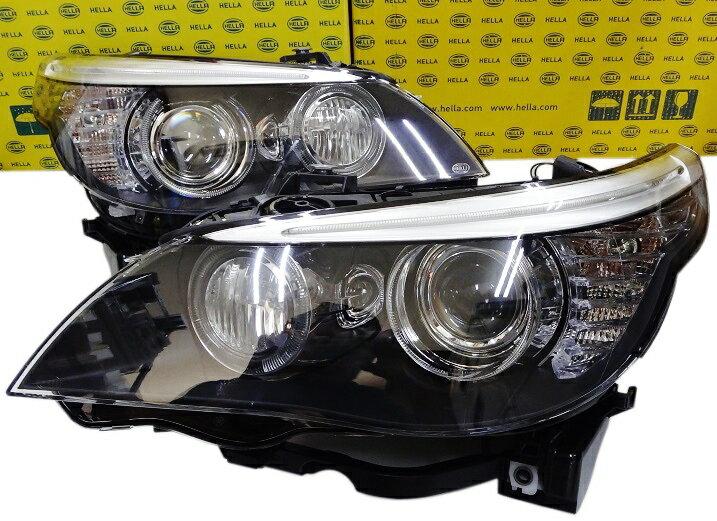 ライト・ランプ, ヘッドライト HELLA OEM BMW E60 E61 5 M5 6312-7045-693 6312-7045-694
