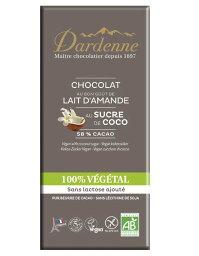 【ダーデン】【ココア58%】有機ココシュガーチョコ アーモンドミルク100g×15個セット【05P03Dec16】