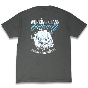 "WORKING CLASS CULTURA ""OCTOPUS"" CHARCOAL Tシャツ"