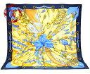 【楠本質店/元住吉】エルメス スカーフ カレ90 SOLEIL DE SOIE シルクの太陽 ネイビー【中古】