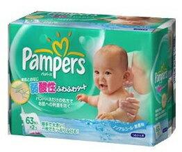 【特売セール】 P&G パンパース 弱酸性ふわふわシート おしり拭き 【つめかえ用】 (63枚...