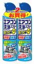 アース製薬 アース エアコン洗浄スプレー 防カビプラス 無香性 (420mL×2本) くすりの福太郎