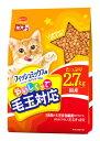 日本ペットフード ミオ おいしくって毛玉対応 フィッシュミックス味 (2.7kg) キャットフード くすりの福太郎