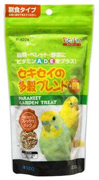 スドー ピッコリーノ セキセイの多穀ブレンド+野菜 P-8224 (230g) 小鳥 エサ