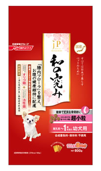 日清ペットフード JPスタイル 和の究み 超小粒 離乳期~1歳未満の幼犬用 (800g) ドッグフード 総合栄養食
