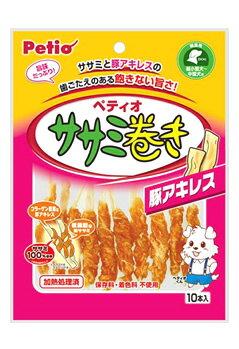 ペティオ ササミ巻き 豚アキレス (10本) ドッグフード 犬用おやつ