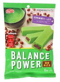 ハマダコンフェクトバランスパワー抹茶あずき(2本×6袋)クッキーカルシウム鉄栄養機能食品