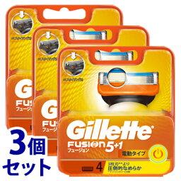 《セット販売》 P&G ジレット フュージョン5+1 パワー 替刃 (4個)×3個セット カミソリ 髭剃り 【P&G】