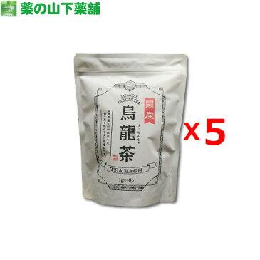 【送料無料】【5個セット】国産烏龍茶 ティーバッグ 徳用40袋入り Japanese Oolong Tea 40 Tea Bags【1個あたり800円(税別)】