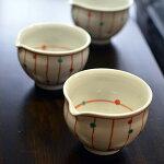 九谷焼3号片口鉢赤絵点と線九谷青窯