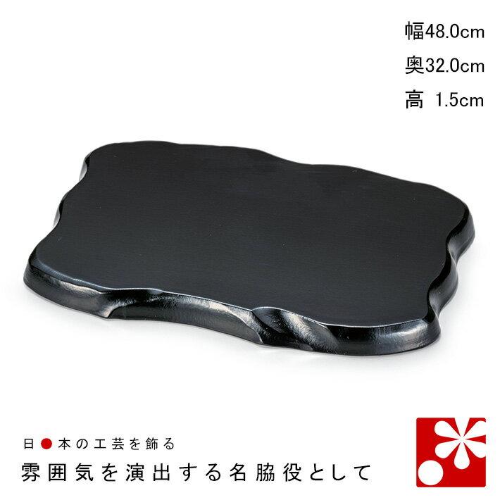 產品詳細資料,日本Yahoo代標|日本代購|日本批發-ibuy99|16号 並板(黒)(幅48cm / 奥32cm)(飾り台 木製 ディスプレイ 什器 花台 花瓶台)