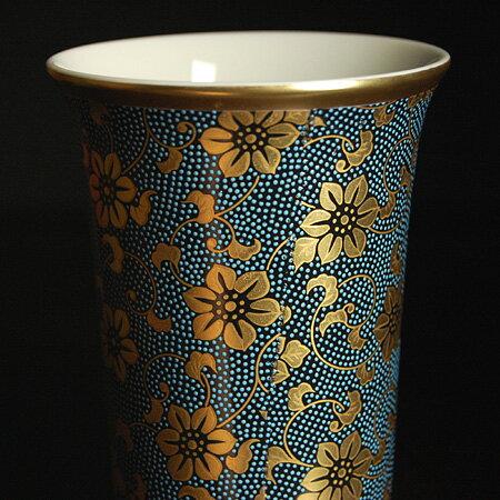 九谷焼 ビアカップ 青粒鉄仙(陶器のビールグラス ビアグラス)( 誕生日 結婚記念日 妻 夫 ギフト お祝い プレゼント )