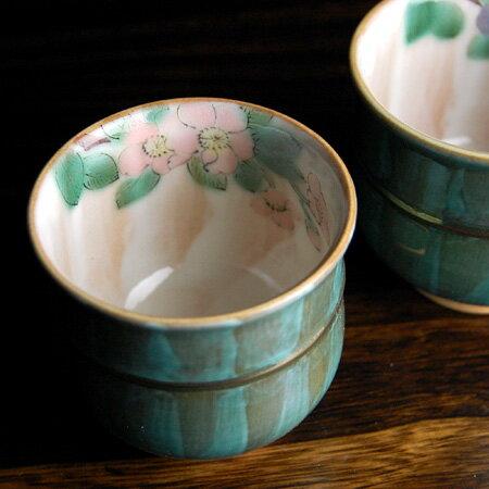 セット ( 金婚式 銀婚式 両親 ギフト お祝い プレゼント めおと 茶碗 湯呑 ) 海棠 夫婦茶碗 ペア 湯呑み 九谷焼