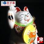 九谷焼 左うちわ招き猫 置物 三毛(右手)( おしゃれ 商売繁盛 開店祝い 猫好き 誕生日プレゼント 猫グッズ )