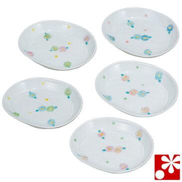九谷焼 豆皿 楕円皿 セット 花紋 櫻井千絵( 和食器 小皿 おしゃれ かわいい アンティーク )