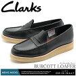 送料無料 クラークス オリジナルス CLARKS メンズ ローファー バーコットローファーブラック 黒 男性 ブランド くらーくす 靴 天然皮革 本革(CLARKS 26122982 BURCOTT LOAFER)