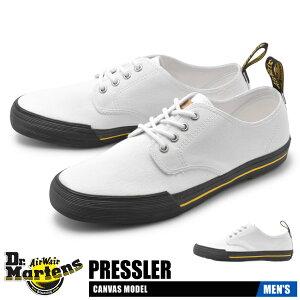 【クリアランスSALE開催中】ドクターマーチン DR.MARTENS メンズ スニーカー プレスラー 靴 シューズ ブランド キャンバス カジュアル ローカット 定番 通勤 通学 ホワイト 白 PRESSLER R24578100 送