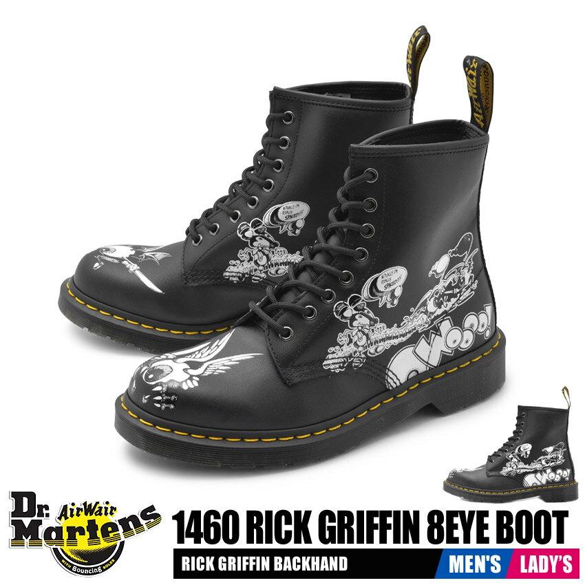 ブーツ, ワーク  DRMARTENS 1460 8 1460 RICK GRIFFIN 8 EYE BOOTS 24876009