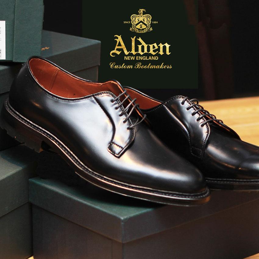 【サマーセール開催】 オールデン ALDEN コマンド アウトソール コードバン ドレスシューズ メンズ ブラック 黒 靴 シューズ 短靴 トラディショナル ビジネス フォーマル 馬革 革靴 紳士靴 通勤 大人 COMMANDO OUTSOLE CORDOVAN 9901C画像