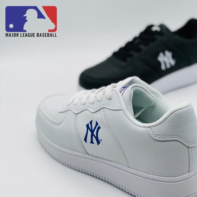 New York Yankees MAJOR LEAGUE BASEBALL メジャーリーグ / MLB 1201 MLB1201 ブラック 黒 ホワイト 白 【送料無料 北海道、沖縄県を除く】【レディース】【メンズ】【レディースシューズ】【メンズシューズ】【仕事靴】【作業靴】【スニーカー】【靴】【シューズ】画像