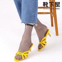 【靴下屋】チュールピンドット柄ソックス/靴下タビオTabioくつ下レディース日本製