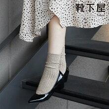 【靴下屋】◆WEB限定◆ラメリブクルー/靴下タビオTabioくつ下クルーレディース日本製