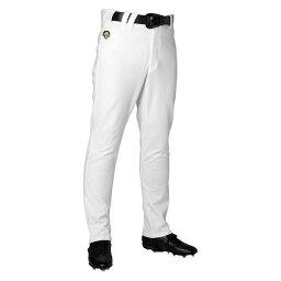 デサント(DESCENTE)ストレートパンツSホワイト(ds-db1013lp-swht) 野球 ソフトボール 試合用 練習用 ユニホーム ボトムス パンツ 大きいサイズ 小さいサイズ 白 ホワイト ロング