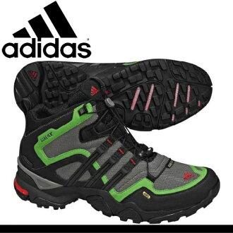 -阿迪達斯運動鞋小徑跑步鞋戶外鞋男式電傳快速 X 阿迪達斯 TERREX 快速 X FM 中期 GTX U44055 GORETEX 戈爾特斯慢跑登山男式運動鞋