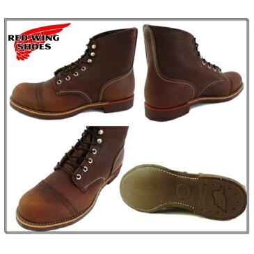 レッドウィング アイアンレンジブーツ RED WING RW-8111 IRON RANGEmade in USA レッドウイング メンズ ブーツ おしゃれ ブランド アンバー ショート ショート丈 ブーツ 24.5cm 25.0cm 25.5cm 26.0cm