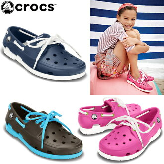 卡駱馳鞋孩子婦女的海灘線船鞋 crocs 海灘線船鞋花邊 GS 15914 兒童鞋涼鞋休閒涼鞋-