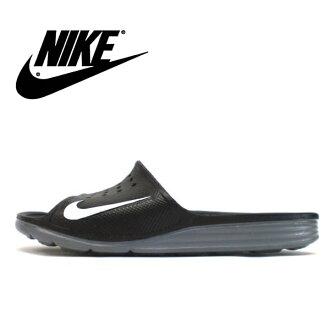 耐吉涼鞋人分歧D NIKE SOLARSOFT SLIDE耐吉太陽能軟體放映裝置386163-011運動涼鞋淋浴涼鞋men's ladies sandal ●