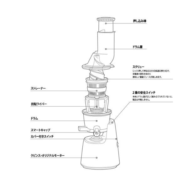 【送料無料】Kuvings(クビンス)サイレントジューサーフローズンストレーナー&レシピブック付[JSG-721]ミキサーブレンダー静か低速石臼コールドプレスジューススムージー離乳食酵素野菜調理小型家電