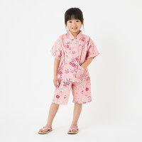 【日本製】純国産の女の子用リップル生地甚平。街着やお祭り、プレゼントに大人気!