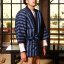 綿入れはんてん 男性用 特許 前合わせ兼用 紬織 かつお縞 半纏 袢纏 半天 どてら ちゃんちゃんこ 丹前 メンズ 防寒 ギフト プレゼント 日本製 久留米産・・・