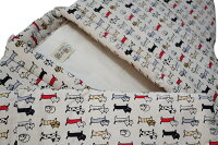 猫柄プリント綿入り久留米袢纏はんてん女性用かわいいネコ防寒着日本製送料無料