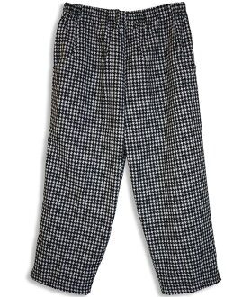 Ladies Kurume woven houndstooth three-quarter pants ( steteco ) fs3gm made in Japan