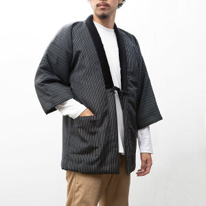定番 久留米綿入り はんてん 半天 半纏 袢纏 メンズ 男性用 日本製 どてら ちゃんちゃんこ 丹前 おしゃれ あたたかい 部屋着 手づくり