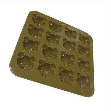 【ネコポス対応】チョコレートモールド・クマ 16面取 SIG-59