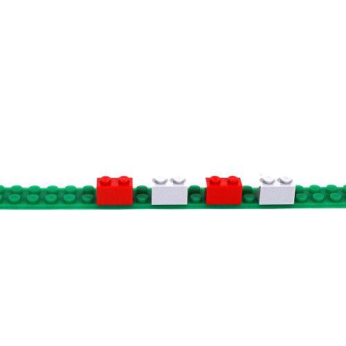 LEGO互換性シリコンブロックテープ2ドット切れる曲がる貼れる巾1.56cm×厚0.4cm×長1mWWD−2DSBT