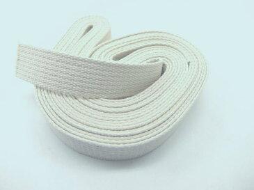 5m巻反売り コットン 綿バンド 巾25mm 厚み2mm 綿ベルト 綿テープ カバンの持ち手等に ネコポス発送不可