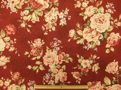 花柄生地 フローラルコレクション アンティークローズ10%OFF 花柄生地Floral Collection A...