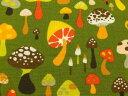 生地 布 USAコットン willow shroom カラフルきのこ 7135Bグリーン ウィローシリーズ キノコ THE ALEXANDER HENRY FABRICS アレキサンダーヘンリー ファブリックス
