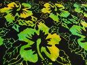 ポイント10倍 輸入 USAコットン 生地 布 バリバティックス 3777−43ろうけつ染め 手染め ジャワ更紗 BENARTEX ベナーテックス インドネシアの手工芸品 花柄 ハイビスカス 商用利用可能