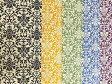 綿麻混 キャンバス生地 布 ダマスク模様 KP9045−1 商用利用可能